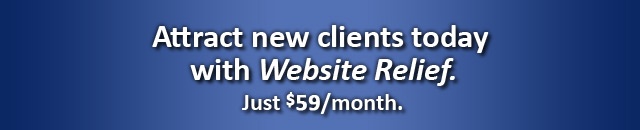 Website Relief - A personalized website and full service client portal, all-in-one for just $59/month.