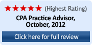 Highest Rating (5 Stars) CPA Practice Advisor, October 2012