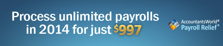 Process unlimited payrolls in 2014 for just $997.